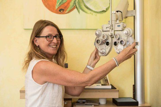 Augenprüfung und Sehtest